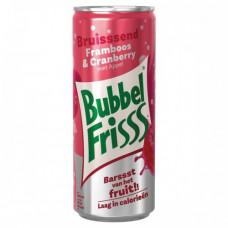 Bubbel Friss Framboos Cranberry Blikjes 25cl Tray 12 Stuks