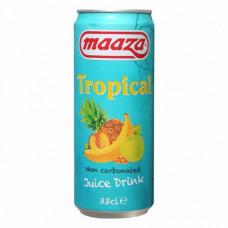 Maaza Tropical Blikjes 33cl Tray 24 Stuks